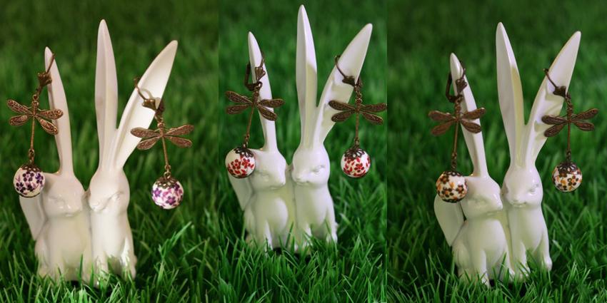 Boucles d'oreilles libellules.