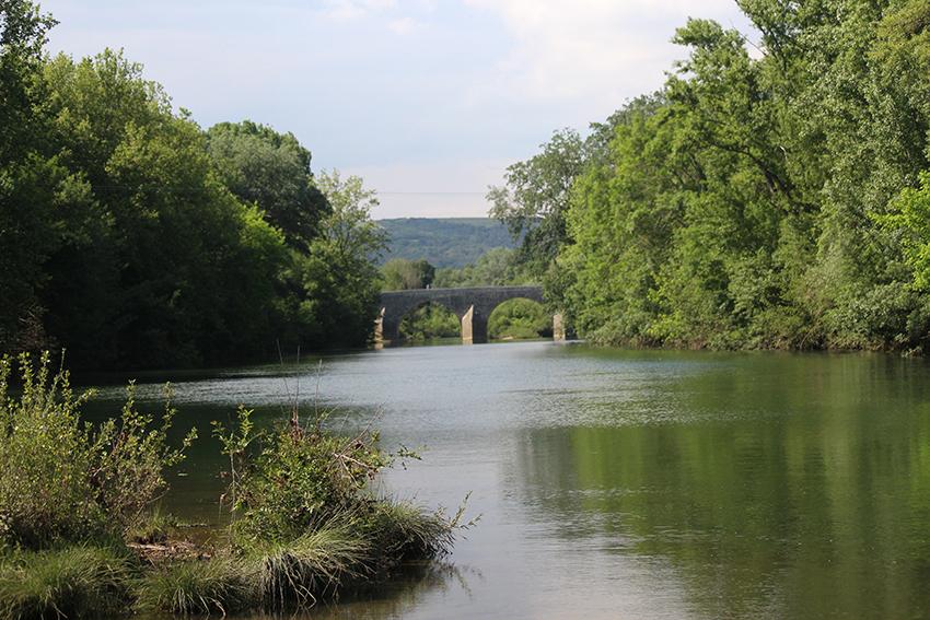 Pont au dessus de la Cèze.