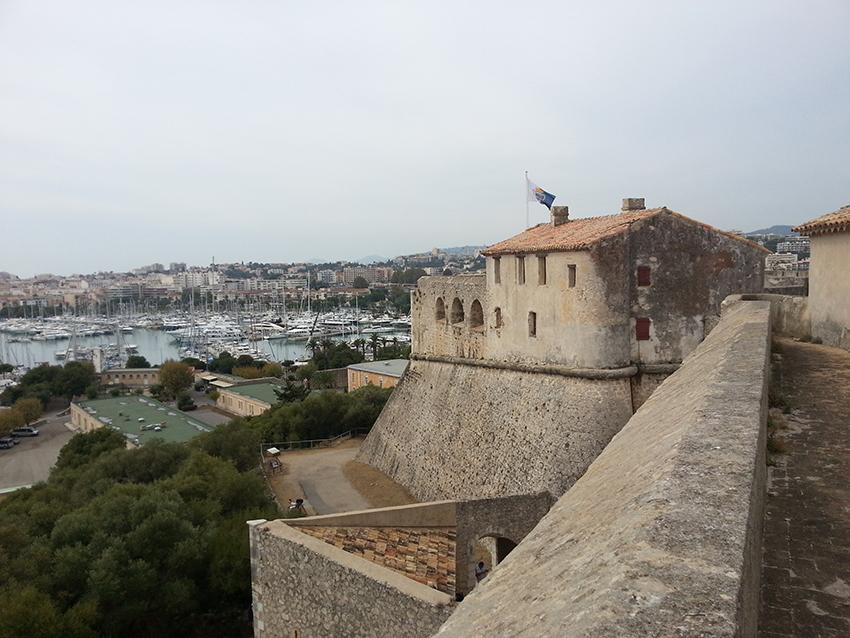 Visite intérieur du fort carré d'Antibes, bastion Antibes.