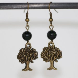 Boucle d'oreille arbre de vie Nature olivier bronze par Divine et Féminine.