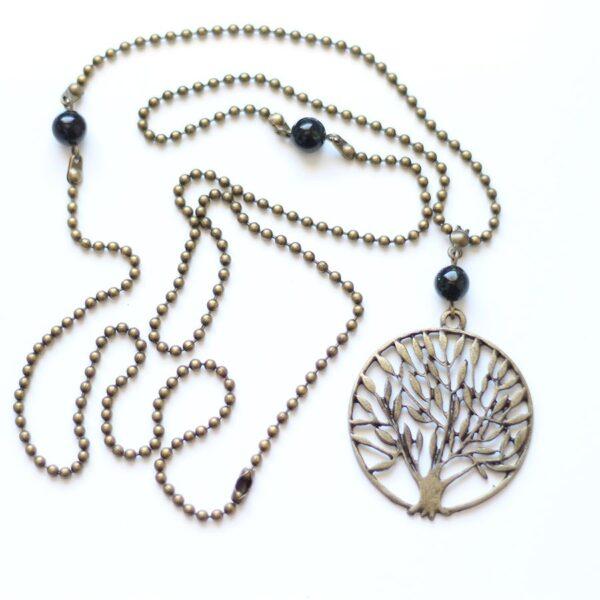 Collier arbre Nature en laiton couleur bronze par Divine et Féminine.