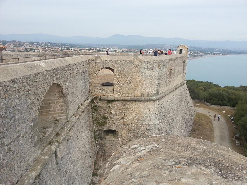 Visite intérieur du fort carré d'Antibes, bastion Nice.