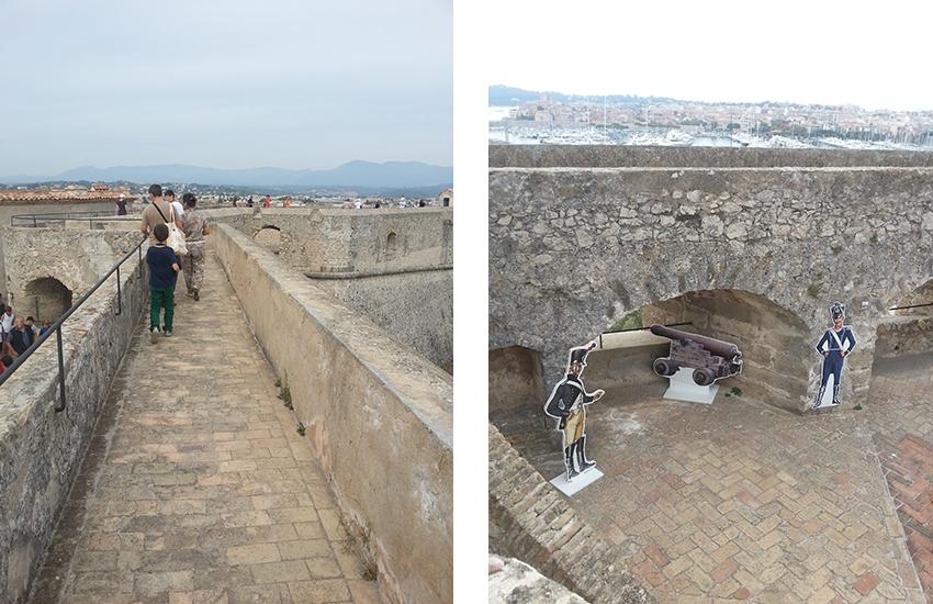 Visite intérieur du fort carré d'Antibes, chemin de ronde.