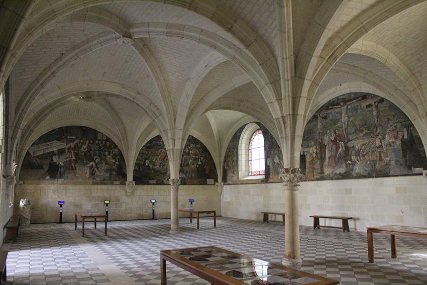 Salle du chapitre, dans l'Abbaye royale de Fontevraud.