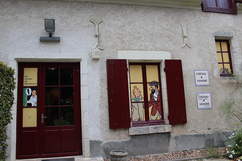 Exposition Tintin du château de Cheverny.