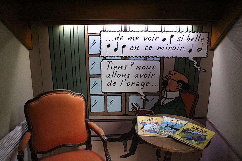 Professeur Tournesol, de l'exposition Tintin au château de Cheverny.