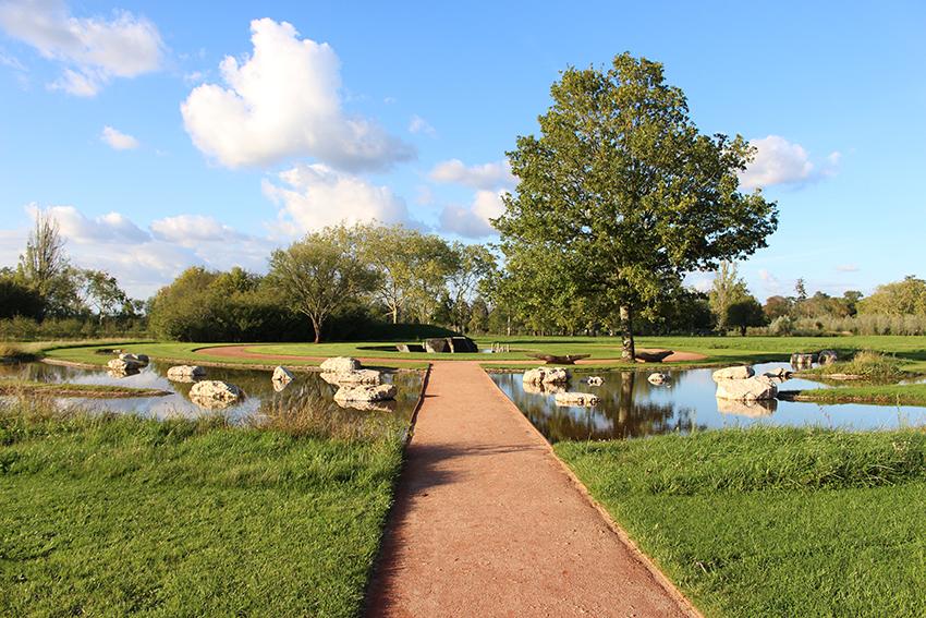 Jardin japonais, dans le près du Goualoup, au festival international des jardins à Chaumont sur Loire.
