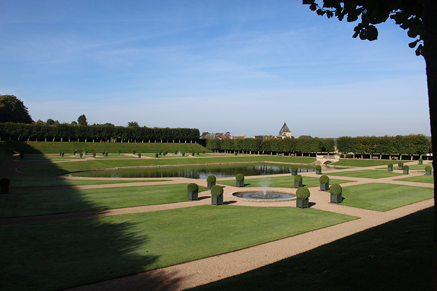 Les jardins du château de Villandry.