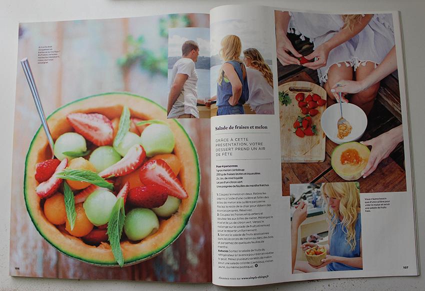 Extrait magazine Simple Things, bonheur et bien-être.