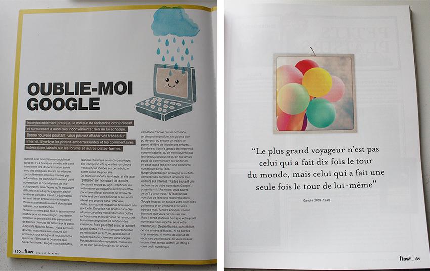 Extrait Flow magazine, bonheur et bien-être.