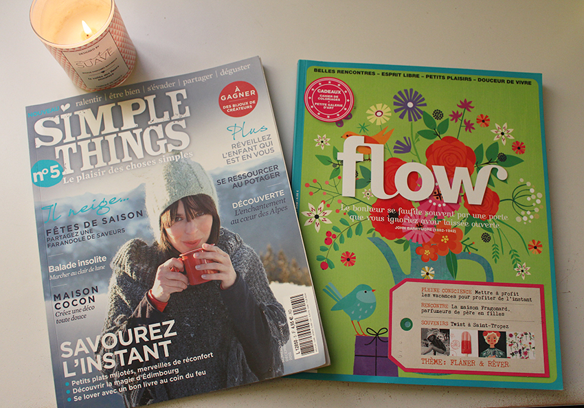 Lecture plaisir et détente : Simple Things et Flow Magazine.