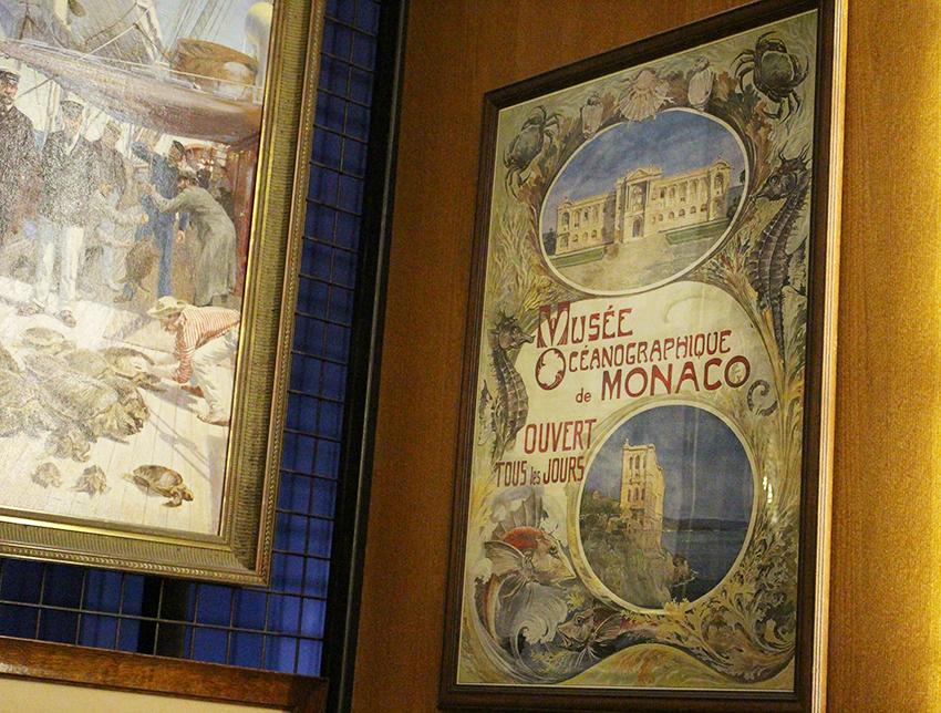 Affiche du musée océanographique de Monaco.