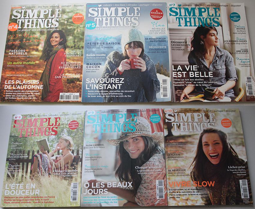 Magazines Simple Things, bonheur et bien-être.