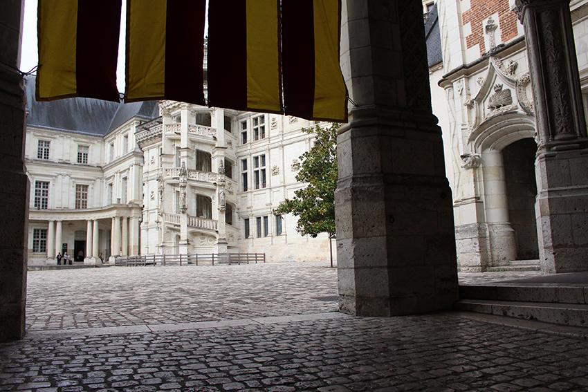 Les escaliers en colimaçon du château de Blois.