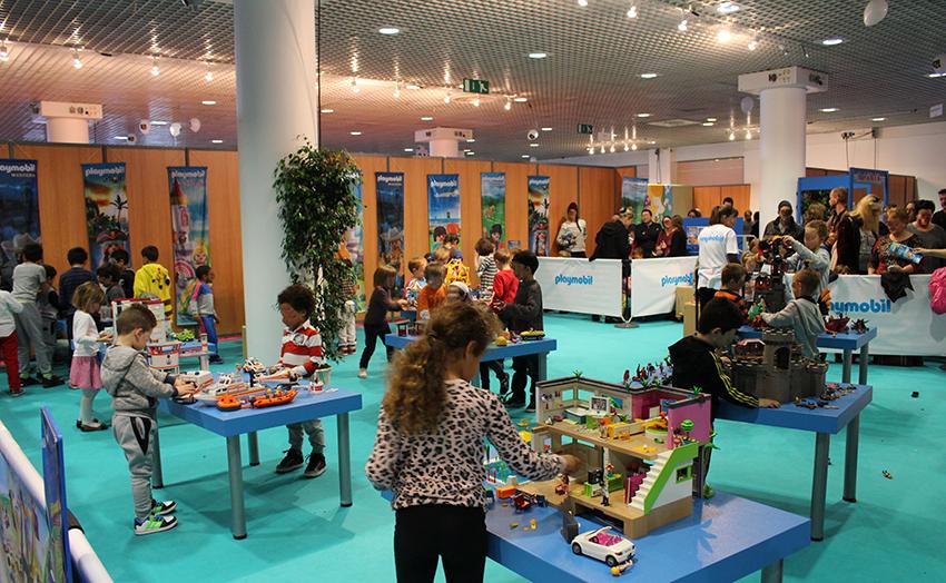 Espace Playmobil au Festival International des Jeux, à Cannes.