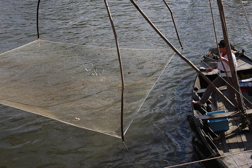 Bateau de pêche, , durant le festival de Loire, à Orléans.