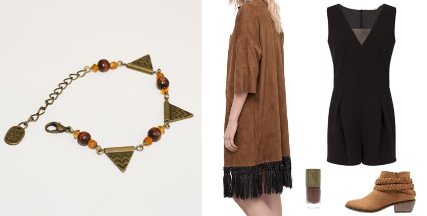 Idée de tenue féminine pour le Printemps à associer au bracelet triangles aztèques, Divine et Féminine.
