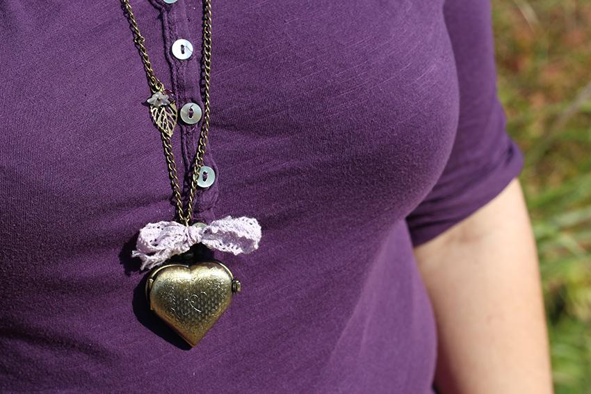 Collier montre coeurs enlacés amoureux, création de Divine et Féminine.