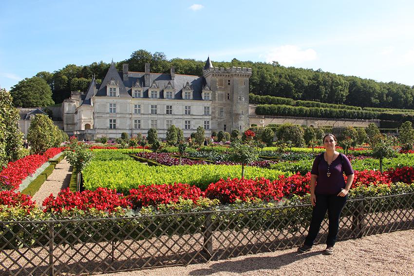 Look devant le château de Villandry.