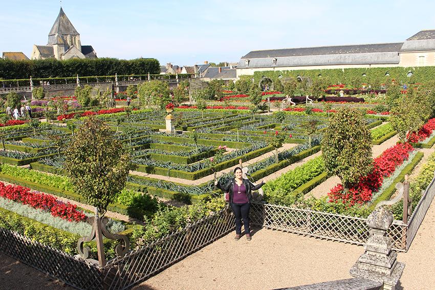 Look dans les jardins de Villandry.