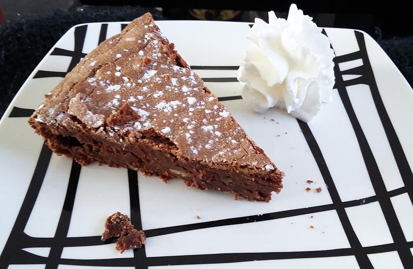 Brownie chocolat et noix, recette facile.