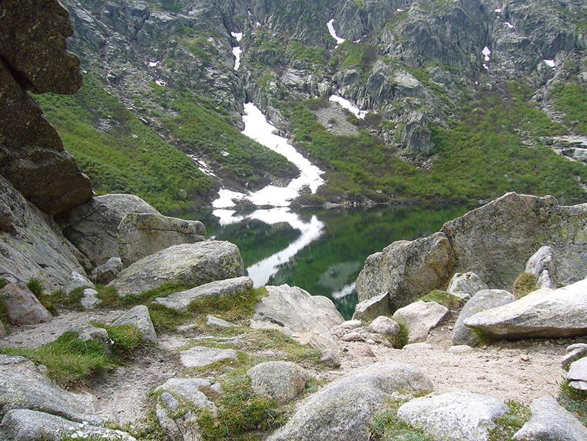 Lac du melu, en Corse.