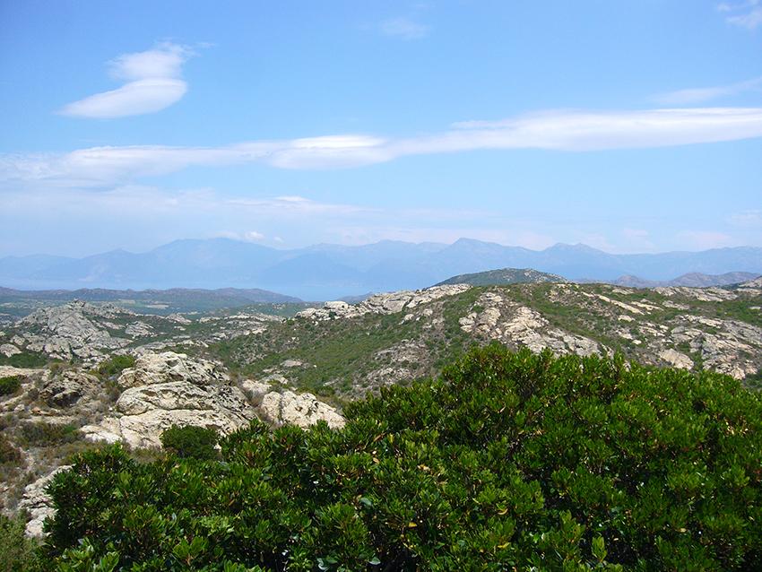 Montagnes du centre de la Corse.