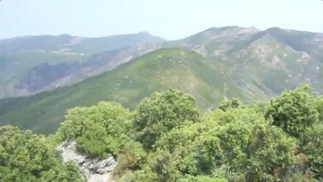 panorama sur les montagnes depuis la tour de Sénèque, en Corse.