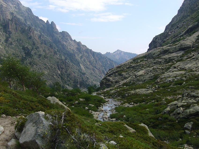 Vallée de la Restonica, en Corse.