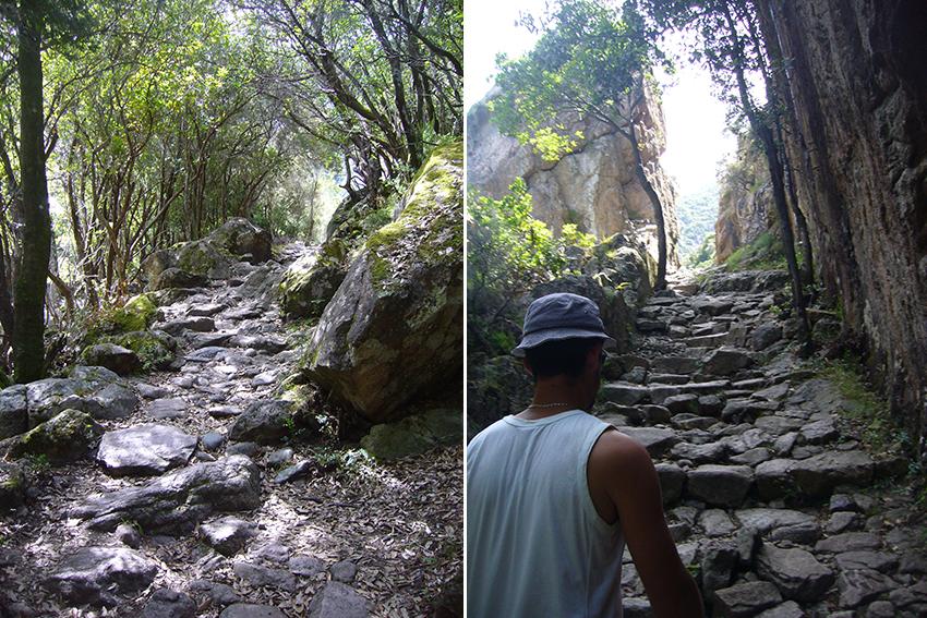 Randonnée dans les gorges de Spelunca, à la recherche du pont de Zaglia.