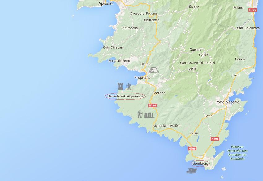 Notre voyage en corse, huitième jour : découverte des falaises de Bonifacio, puis randonnées sur le plateau de Cauria, puis vers la tour de Campomoro.
