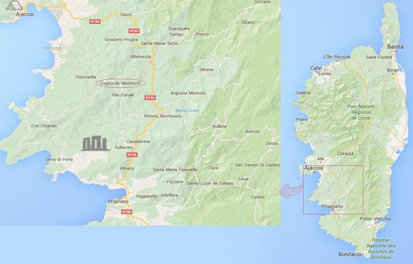 Notre voyage en corse, neuvième jour : découverte du site préhistorique de Filitosa, puis randonnées vers le village abandonné de Monticchi puis le long du ruisseau de Monticchi.