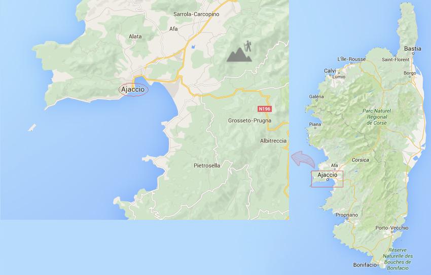 Notre voyage en corse, dixième jour : randonnée sur le Monte Aragnascu, puis découverte de la ville d'Ajaccio.