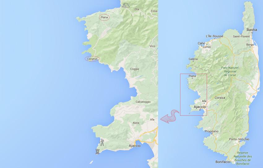 Notre voyage en corse, onzième jour : randonnée de la pointe de la Parata au Capo di Feno, puis découverte de la ville de Cargèse et des calanques de Piana.