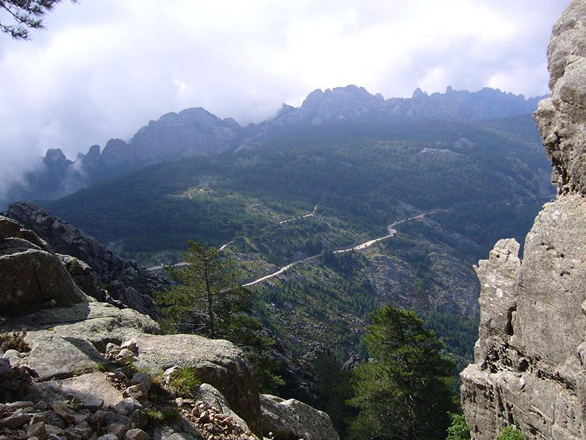 Panorama depuis la première aiguille de Bavella.