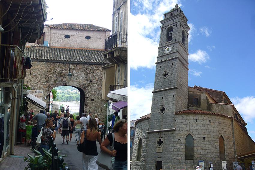 Porte génoise et église Saint-Jean-Baptiste, à Porto-Vecchio.