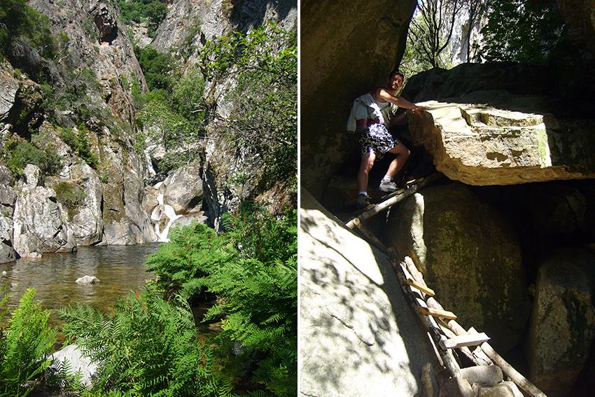 Randonnée vers le ruisseau de Monticchi, en Corse.
