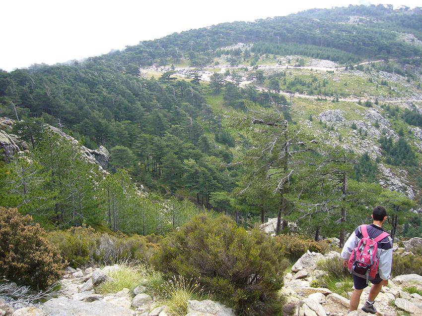 Randonnée dans les aiguilles de Bavella, en Corse.