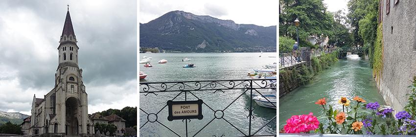 Tranches de bonheur : visite de la ville et du lac d'Annecy.