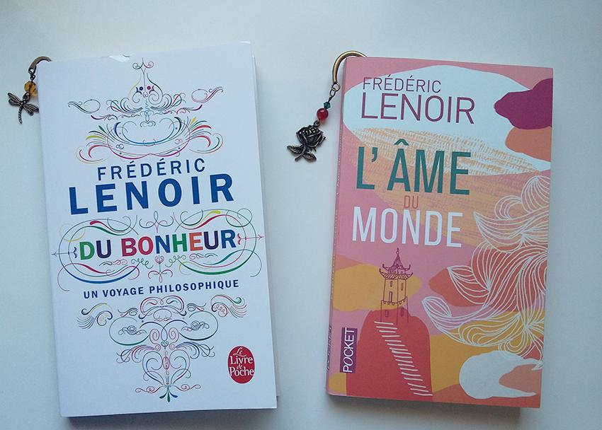 Lectures philosophiques : les livres de Frédéric Lenoir (l'âme du monde, et du bonheur un voyage philosophique).
