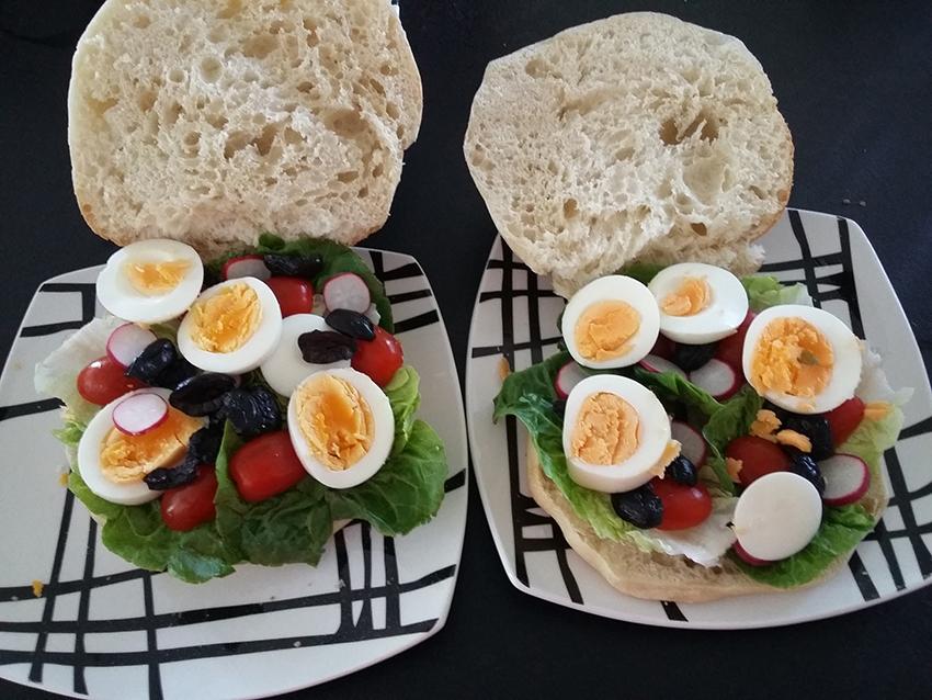 Notre recette de pan bagnat antibois.