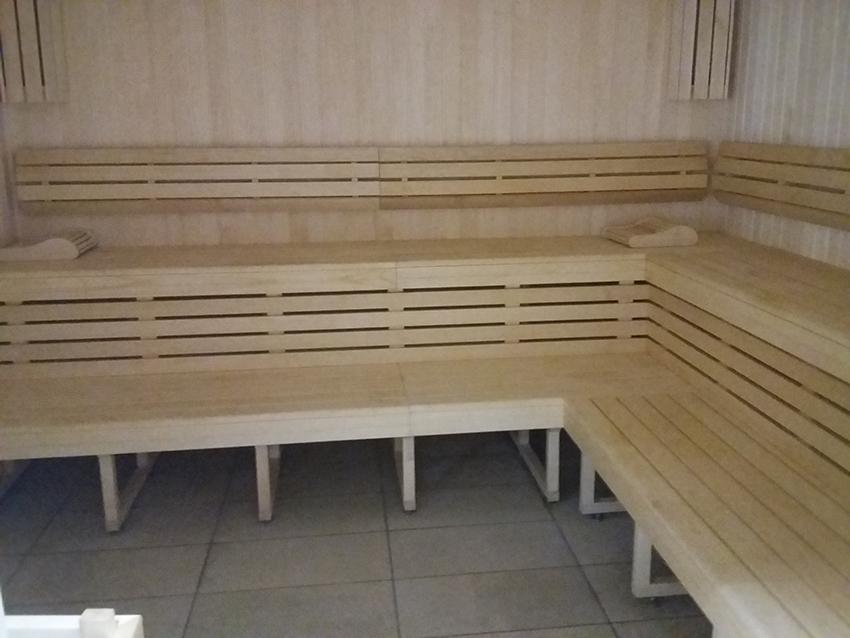 Sauna des thermes valvital à Berthemont-les-bains.