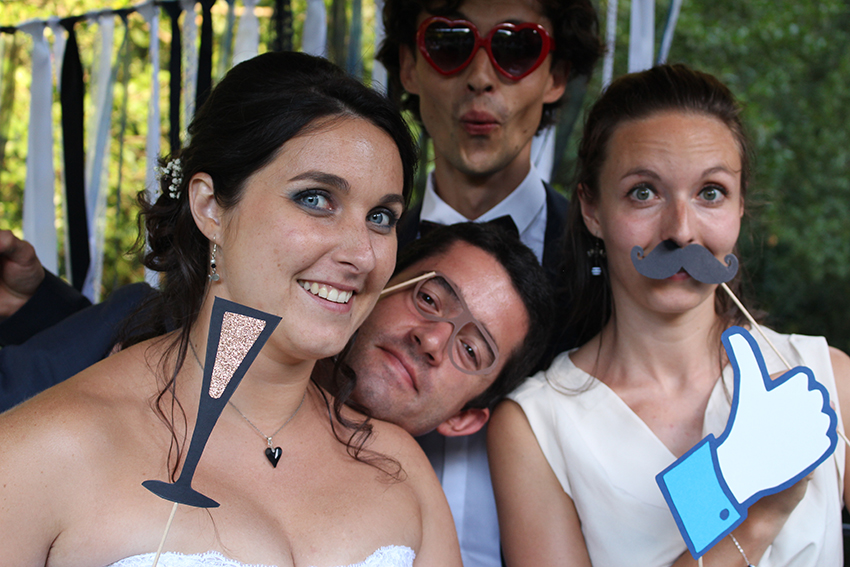 Stand photobooth de notre mariage.