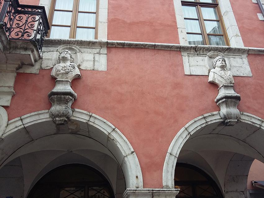 Façade hôtel particulier d'Annecy