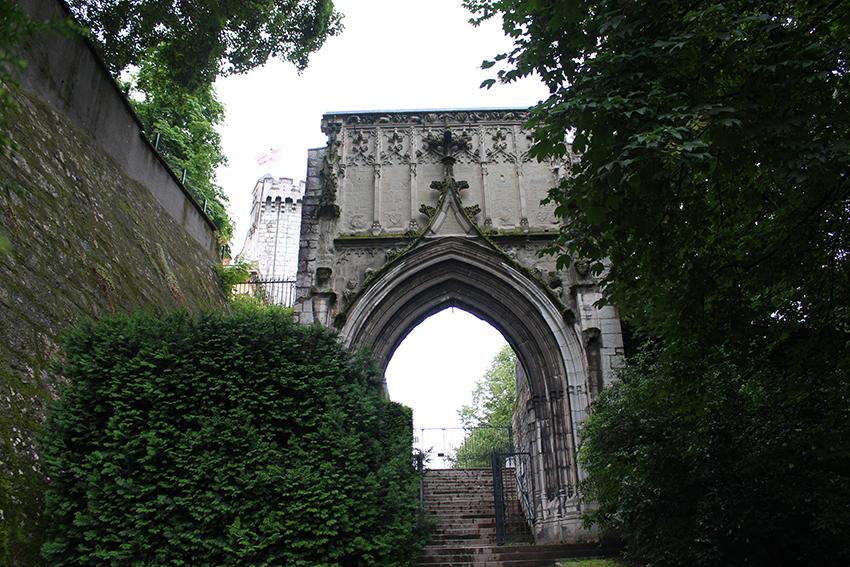 Entrée du jardin des senteurs de Chambéry