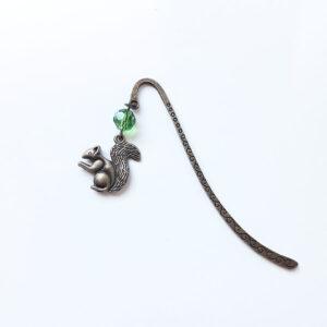 Marque page écureuil en laiton bronze par Divine et Féminine.