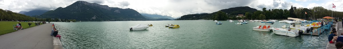 Panoramique du lac d'Annecy.