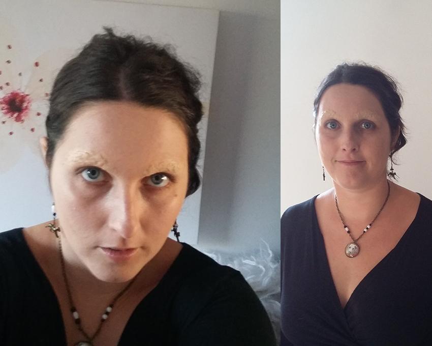 Maquillage Halloween : supprimer ses sourcils.