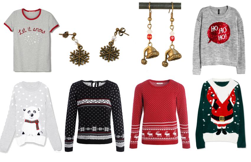 Quoi porter en hiver ? Des pulls à imprimé et des bijoux en laiton bronze Divine et Féminine.