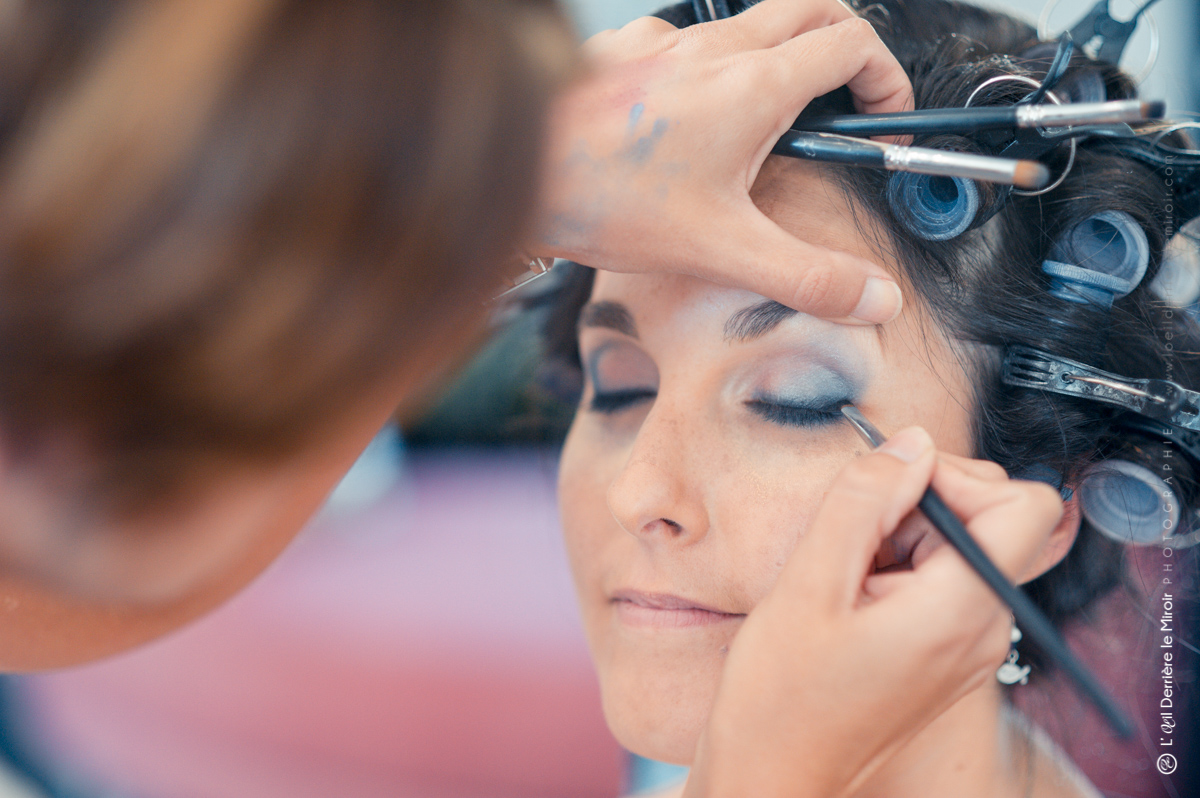 Maquillage de mariage par Sabine beauté.